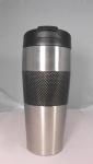 Carbon Fiber Black Grip #304 stainless mug